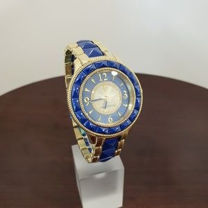Judith Ripka Blue-Gold Ceramic-SS Watch